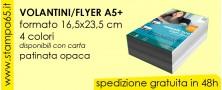 Volantini Flyer A5 + 16,5x23,5cm