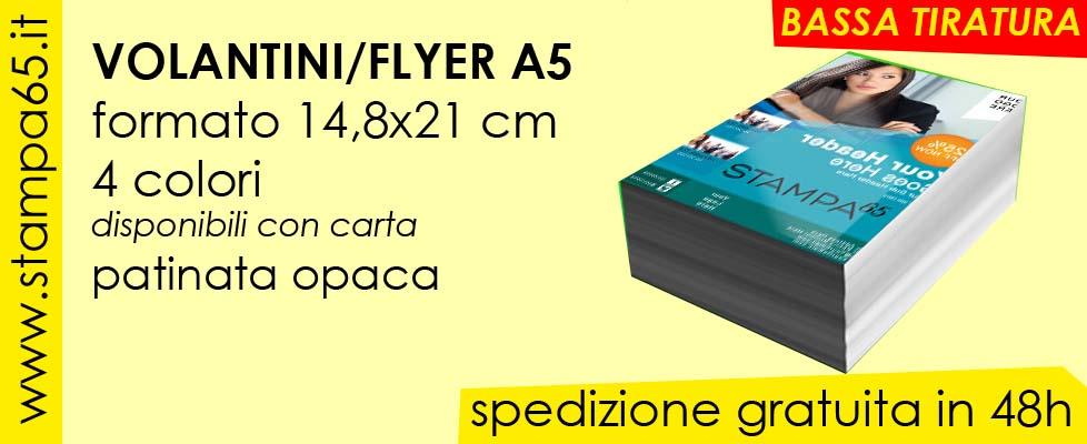 Volantini  Flyer A5 14,8x21cm bassa tiratura