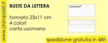 Buste da lettera (formato 23x11 cm)