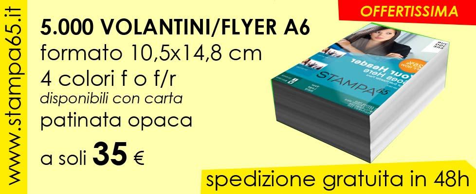 5000 Volantini A6 10,5x14,8 cm